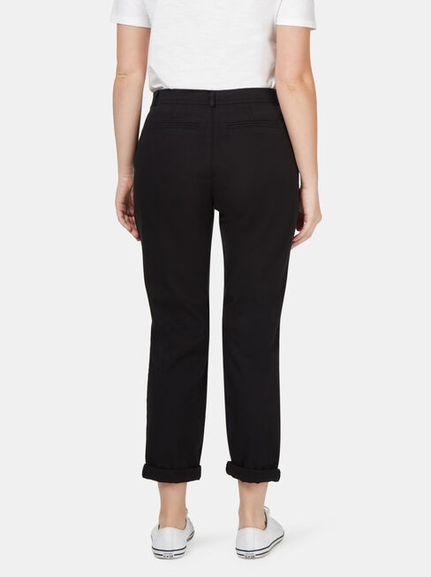 Avril Chino Pant, Black, hi-res