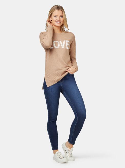 Imogen Love Leopard Pullover, Brown, hi-res