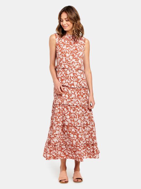 Sophie Slv Tiered Midi Dress