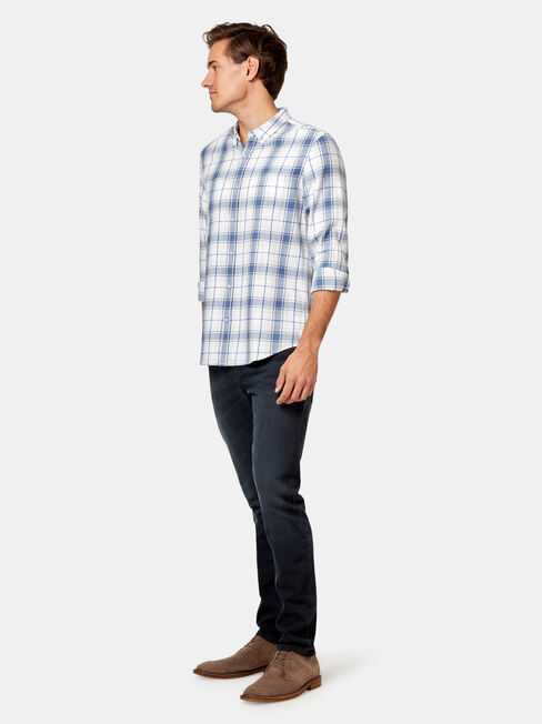 Stanford Check Shirt, Blue, hi-res