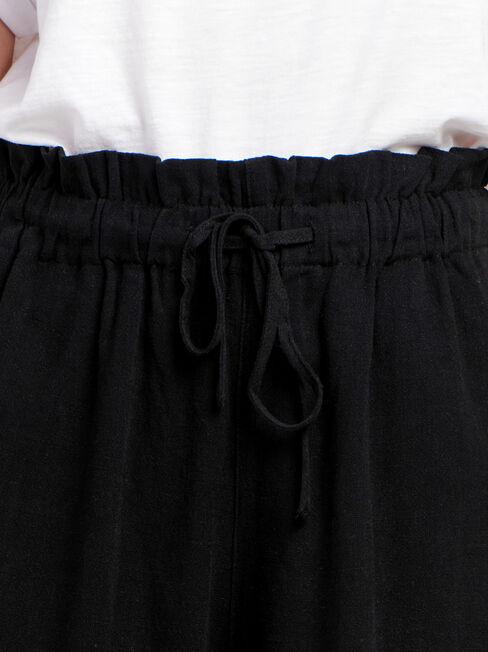 Joanna Core Linen Blend Short, Black, hi-res