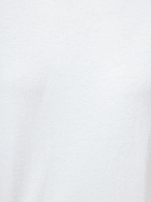 3/4 Sleeve Drop Shoulder Tee, White, hi-res