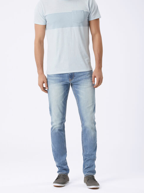 Slim Tapered Jeans Ice Blue