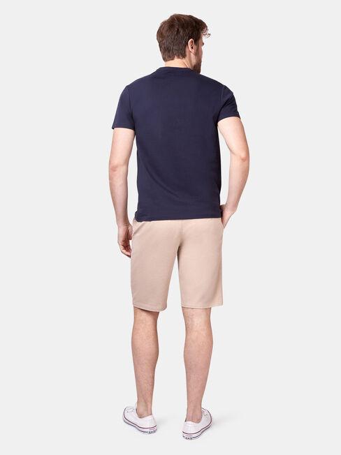 Dax Short Sleeve Print Crew Tee, Blue, hi-res