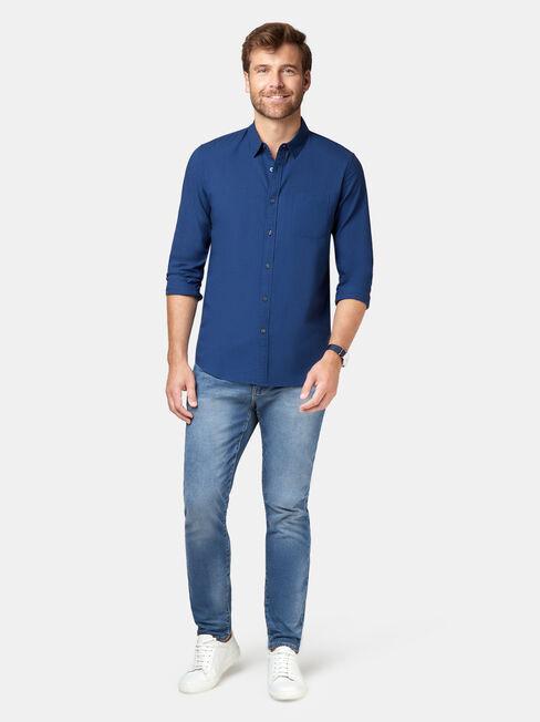 Foster Long Sleeve Shirt, Black, hi-res