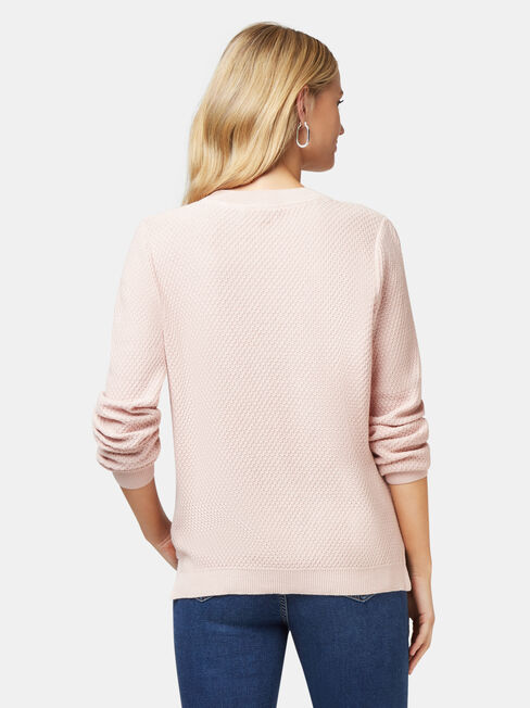 Ally Bobble Pullover, Pink, hi-res