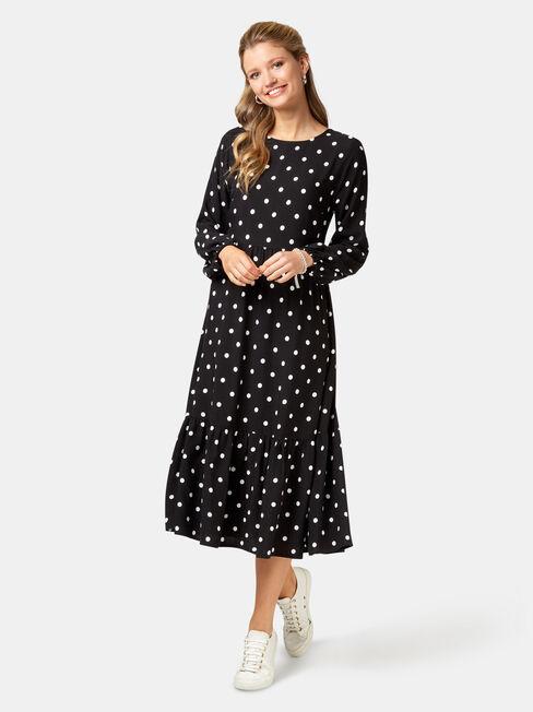 Tory Tiered Midi Dress