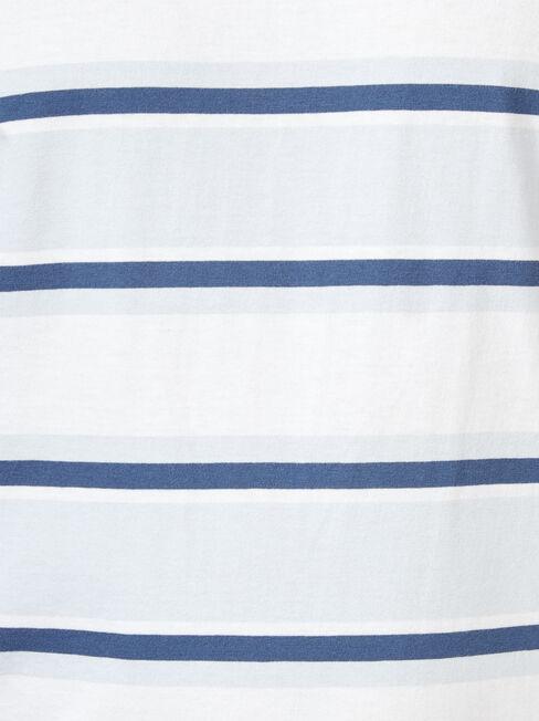 Banjo Short Sleeve Stripe Crew Tee, Blue, hi-res