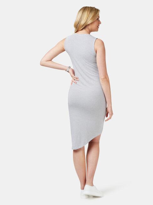 Clara Maternity Dress, Stripe, hi-res