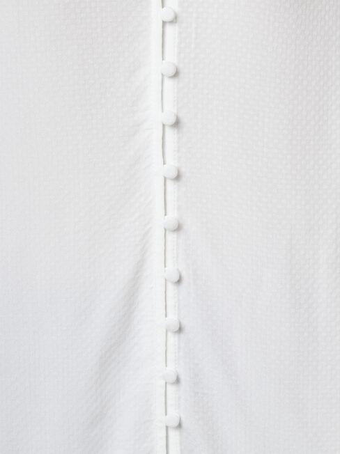 Ariah Button Front Top, White, hi-res