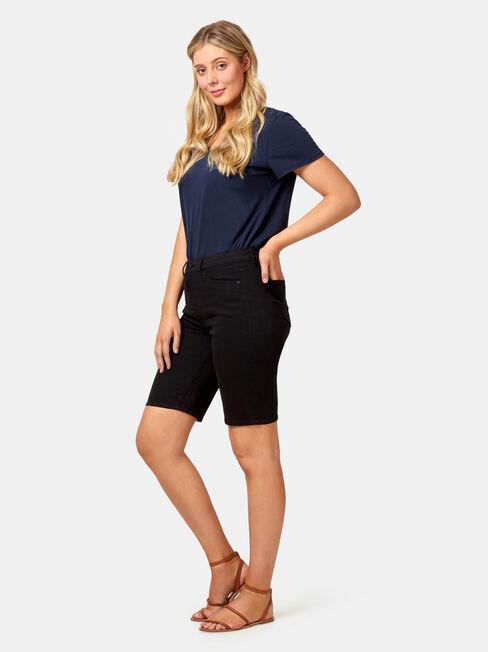 Tully Curve Embracer Knee Length Short, Black, hi-res