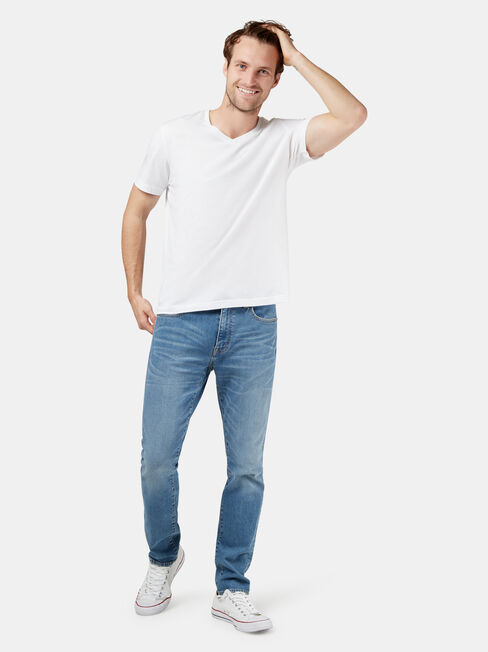 Eco Denim Flex 360 Slim Tapered Jeans, Light Indigo, hi-res