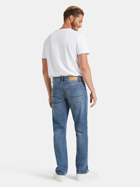 Straight Jeans Antique Indigo, Mid Indigo, hi-res