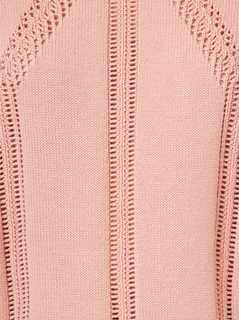 Alex Pointelle Pullover, Pink, hi-res