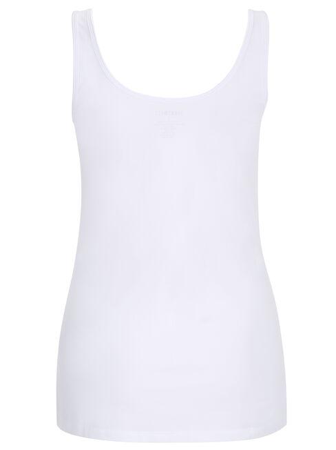Lola Cotton Basic Tank, White, hi-res