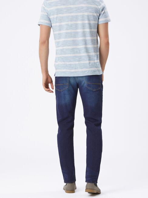 Slim Straight Knit Jeans Dark Indigo, Dark Indigo, hi-res