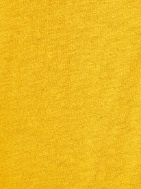 Relaxed Pocket Slub Tee, Yellow, hi-res