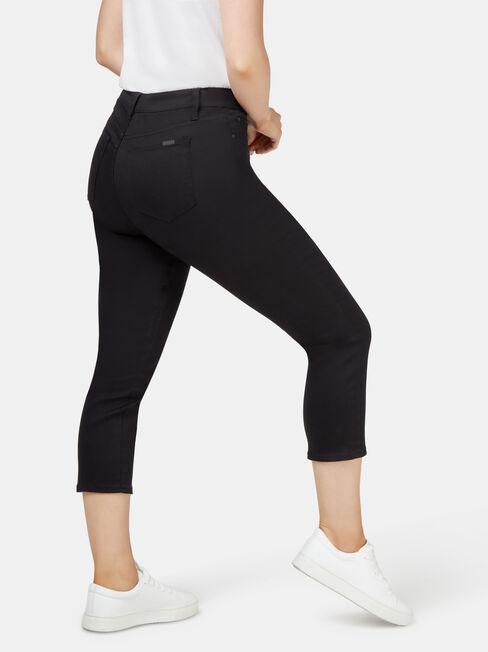 Kara Curve Embracer Skinny Capri Jeans Black