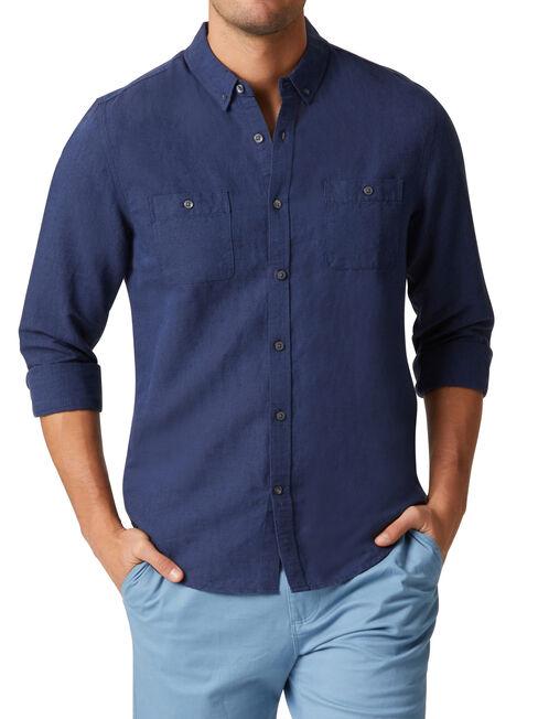 Bronson Long Sleeve Textured Shirt, Blue, hi-res