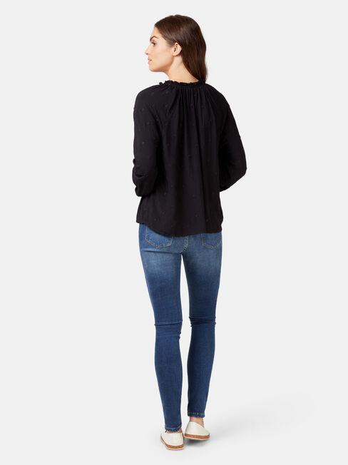 Emma Embroidered Blouse, Black, hi-res