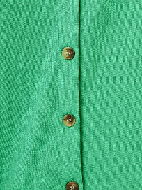 Terryn Button Thru Tank, Green, hi-res