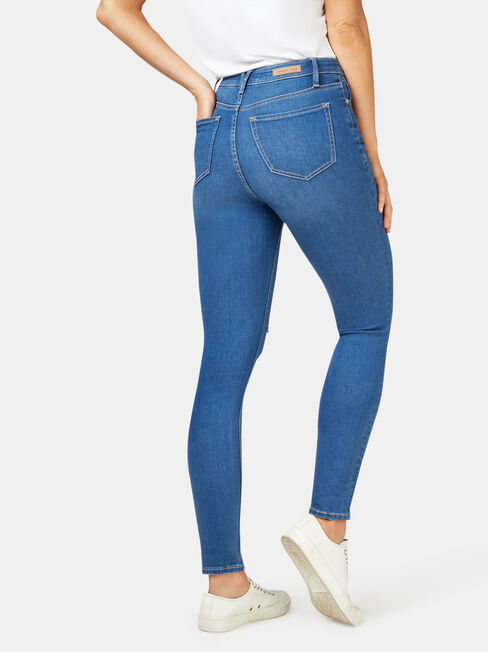Valerie Mid Waisted Skinny 7/8 Jeans, LightWash, hi-res
