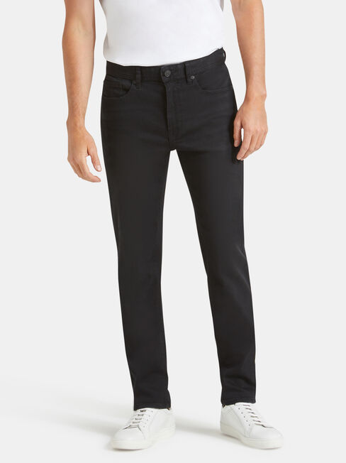 Denim Flex Slim Tapered Jeans Washed Black