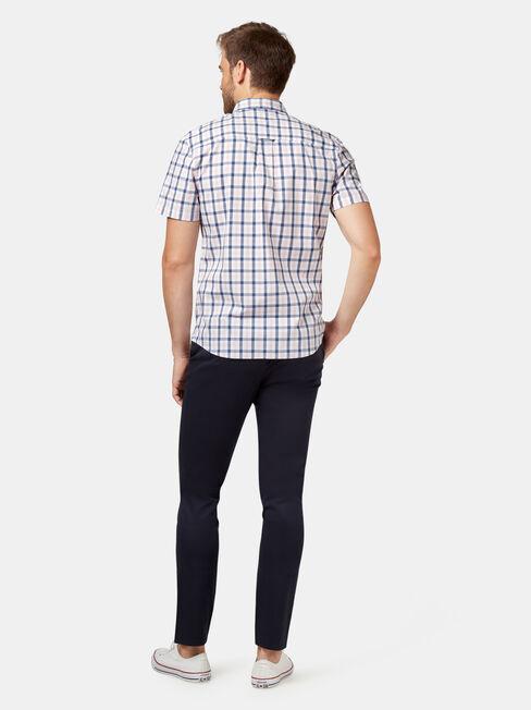Xavier Check Shirt, White, hi-res