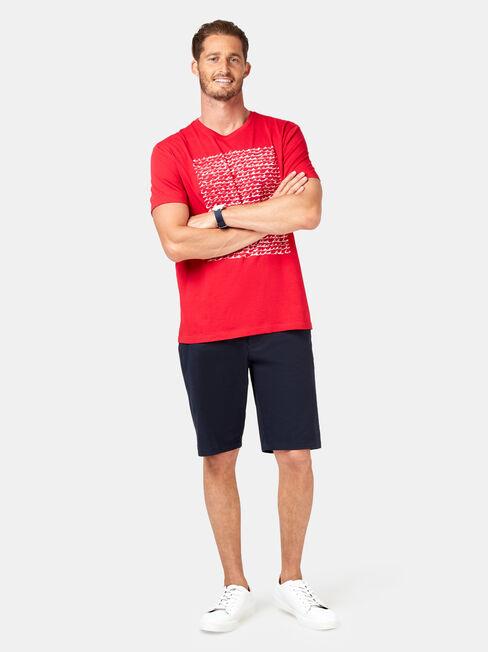 Boston Short Sleeve Print Crew Tee, Red, hi-res