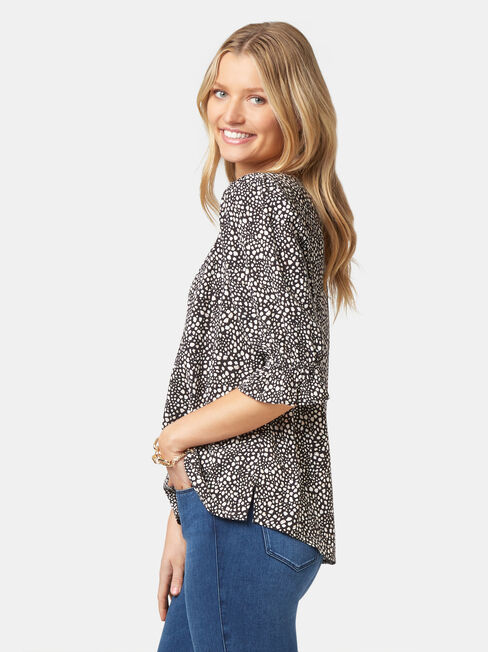 Cami Printed Blouse, Multi, hi-res