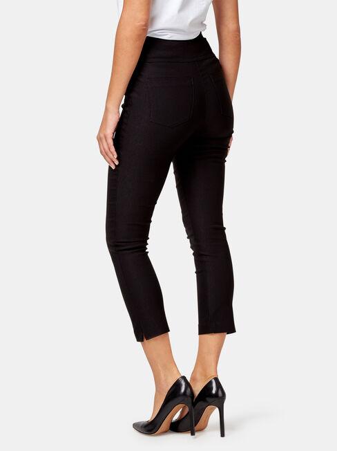Tara Tummy Trimmer Crop Pant, Black, hi-res