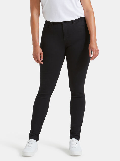 Tummy Trimmer Skinny Jeans Black Night, Black, hi-res