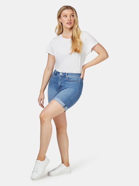 Sophia Curve Embracer Bermuda Short Light Vintage, White, hi-res