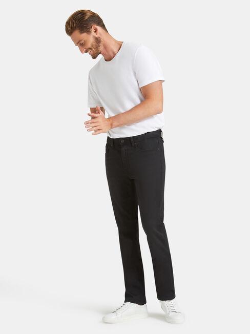 Denim Flex Slim Tapered Jeans Washed Black