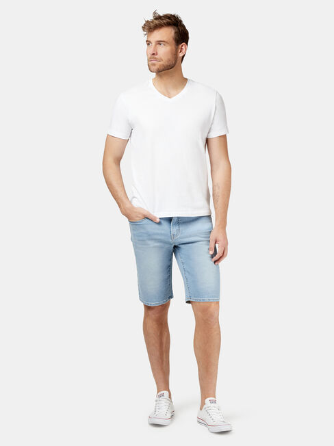 Pierce Knit Denim Short, Blue, hi-res