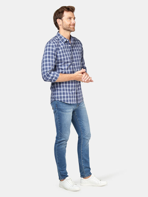 Turner Check Shirt, Blue, hi-res