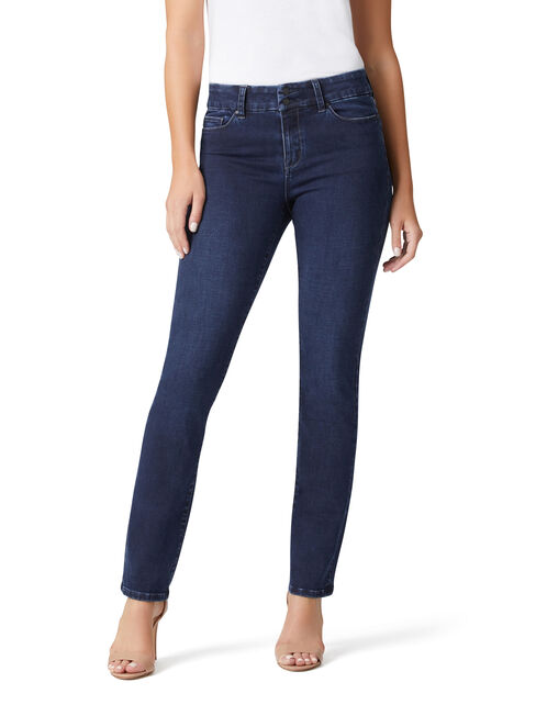 Hip Hugger Slim Straight jeans Dark Sapphire, Dark Indigo, hi-res