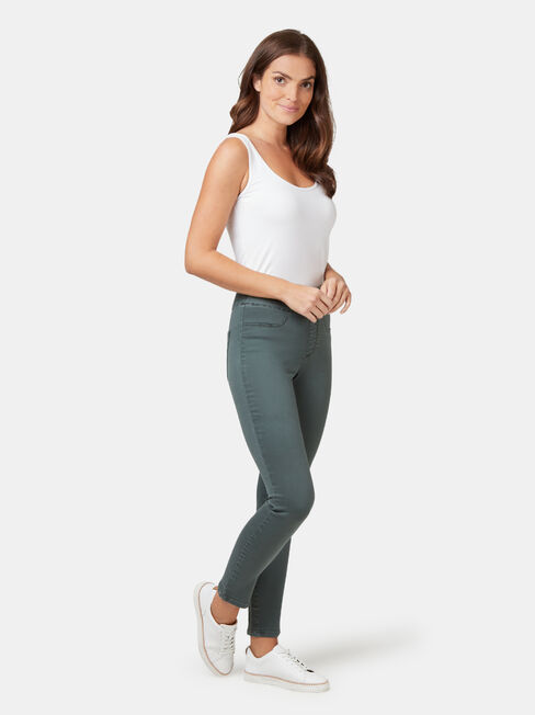 Tummy Trimmer Luxe Lounge Jeans, Coloured, hi-res