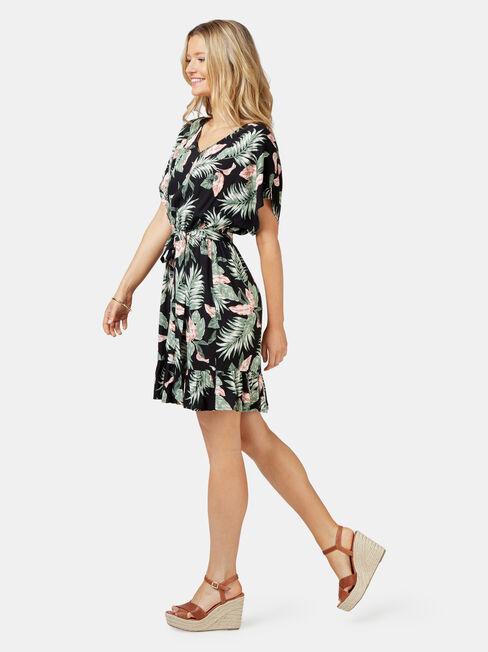 Leah Ruffle Dress, Floral, hi-res