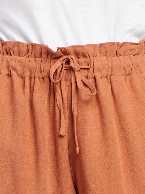 Joanna Core Linen Blend Short, Red, hi-res