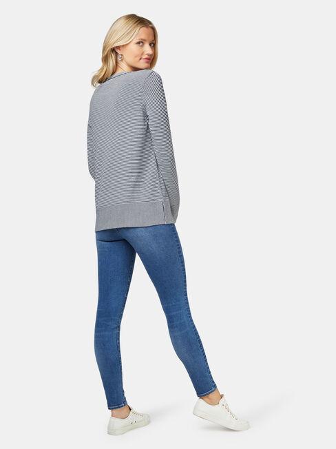 Eloise Light Weight Knit, Stripe, hi-res
