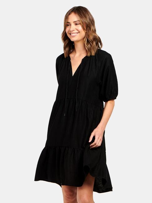 Jasmine Babydolll Dress, Black, hi-res