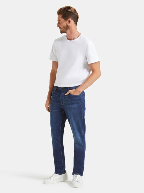 Fleetwing Slim Tapered Knit jeans, Dark Indigo, hi-res