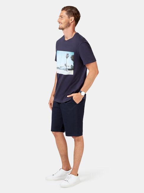 Dusk Short Sleeve Print Crew Tee, Blue, hi-res