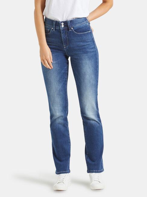 Tummy Trimmer Slim Straight Jeans Mid Sapphire