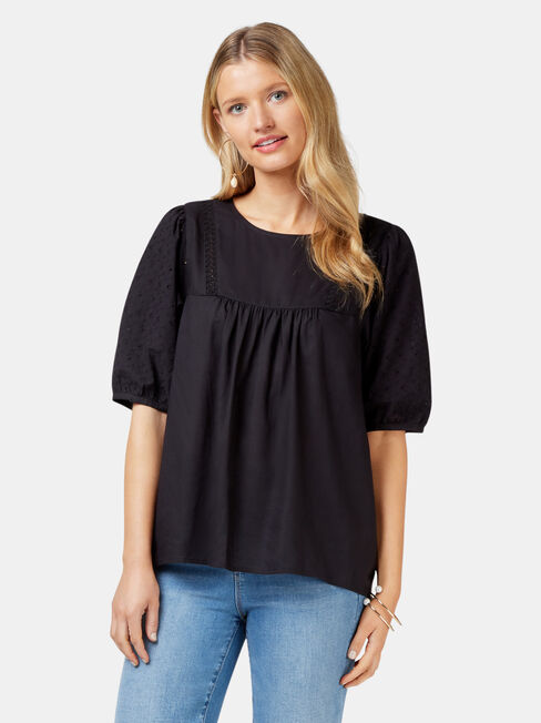 Lilah Broderie Sleeve Blouse