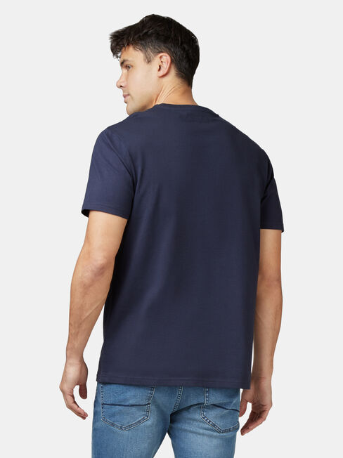 Adler Short Sleeve Print Crew Tee, Blue, hi-res