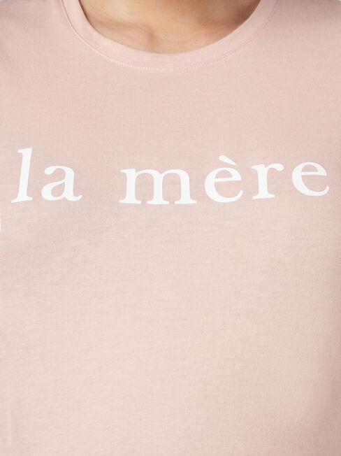La Mere Slogan Tee, Pink, hi-res