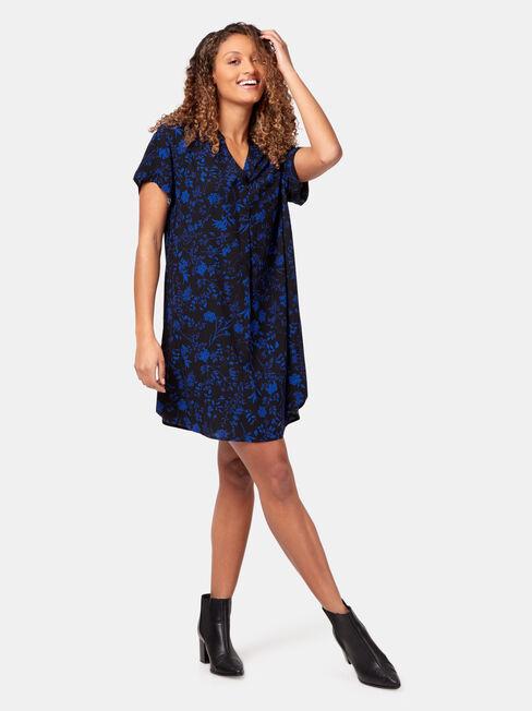 Abi Shift Dress, Print, hi-res