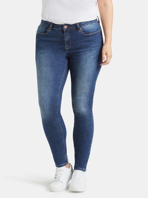 Curve Embracer Skinny Jeans Mid Vintage